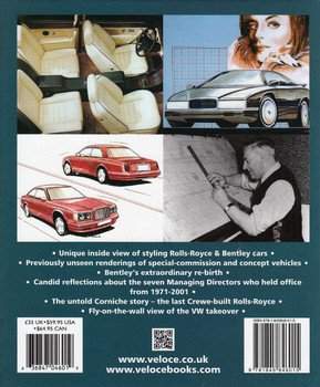 Inside the Rolls-Royce & Bentley Styling Department 1971 to 2001 Back Cover