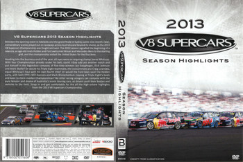 V8 Supercars 2013 Season Highlights DVD Back Cover