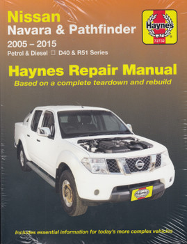 Nissan Navara, Pathfinder D40 & R51 Petrol, Diesel 2005 - 2015 Haynes Workshop Manual ( 9781620920671)