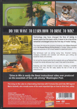 Drive to Win With Gilbert Pednault & Mario Andretti DVD Back Cover