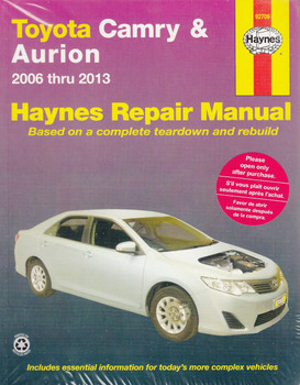 Toyota Camry & Aurion 2006 - 2013 Workshop Manual