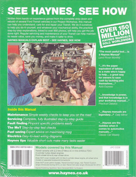 Ford Transit Diesel 2006 - 2013 Workshop Manual Back Cover