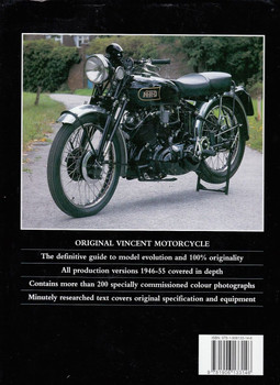 Original Vincent Motorcycle The Restorer's Guide to Postwar Singles and Twins Back