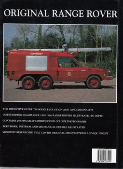 Original Range Rover The Restorer's Guide Back Cover