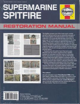 Supermarine Spitfire Restoration Manual Back Cover