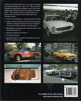 Mercedes W113 The Complete Story Back Cover