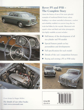 Rover P5 and P5B The Complete Story Back Cover