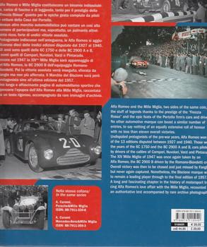 Alfa Romeo & Mille Miglia Back Cover