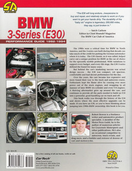 BMW 3-Series (E30) Performance Guide 1982 - 1994 Back Cover