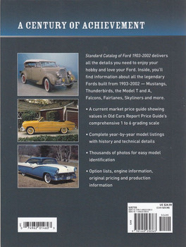 Standard Catalog of Ford 1903 - 2002 Back Cover