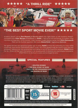 Rush Movie: Hunt vs Lauda DVD Back Cover