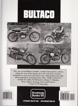 Bultaco Limited Edition Extra 1971 - 1979 Back Cover