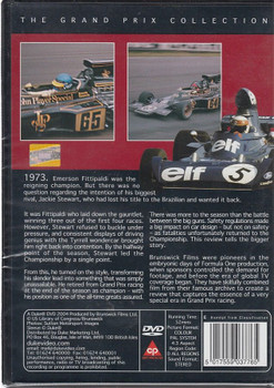 Formula One 1973: Reign of Stewart DVD Back Cover