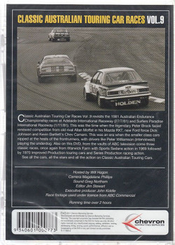 Classic Australian Touring Car Races Vol. 9 DVD Back Cover