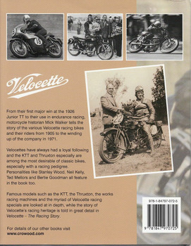 Velocette The Racing Story Back Cover