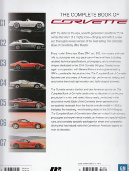 The Complete Book of Corvette Every Model Since 1953 Back Cover