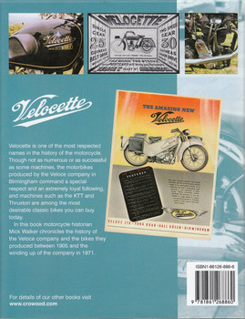 Velocette Production Motorcycles Back Cover