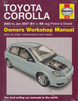 Toyota Corolla Petrol & Diesel 2002 - 2008 Repair Manual