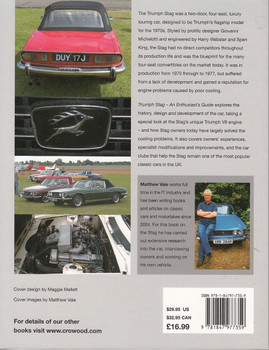 Triumph Stag An Enthusiats's Guide Back Cover
