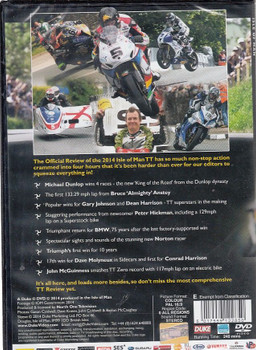 Isle of Man TT Official Review 2014 DVD Back Cover