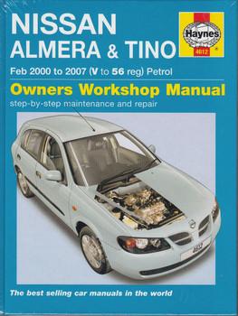 Nissan Almera & Tino 1.5 & 1.8 Litre Petrol 2000 - 2007 Workshop Manual
