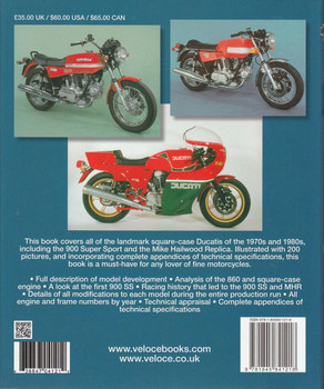 The Ducati 860, 900 & Mille 1975 - 1986 Bible Back Cover