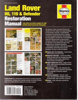 Land Rover 90, 110 & Defender Restoration Manual Back Cover