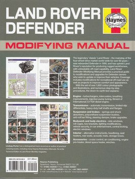Land Rover Defender Modifying Manual: A Practical Guide to Upgrades Back Cover