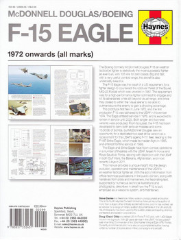 McDonnell Douglas / Boeing F-15 Eagle 1972 onwards (all marks) Owners' Workshop Manual Back Cover