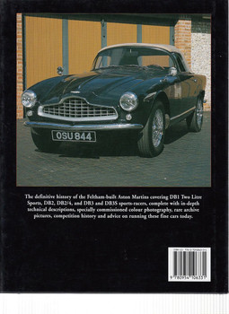 Aston Martin DB2, DB2/4 & DB3 in Detail 1950 - 1959 Back Cover