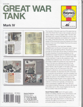 Great War Tank Mark IV Owners' Workshop Manual Back Cover