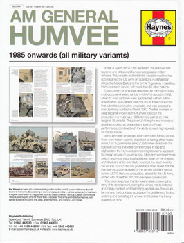 AM General Humvee 1985 Onwards (all military variants) Enthusiasts' Manual Back Cover