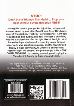 Triumph Thunderbird Trophy & Tiger 650cc & 750cc models 1950 - 1983: The Essential Buyer's Guide Back Cover