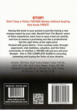 Volvo 700 / 900 Series 1982 - 1998: The Essential Buyer's Guide Back Cover