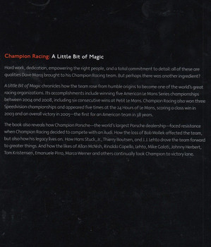 Champion Racing - A Little Bit of Magic Back Cover