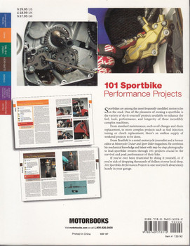 101 Sportbike Performance Project Back Cover
