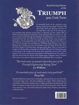 Road Racing History of the Triumph 500 Unit Twin Back Cover