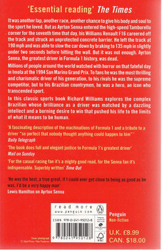 The Death of Ayrton Senna Back Cover