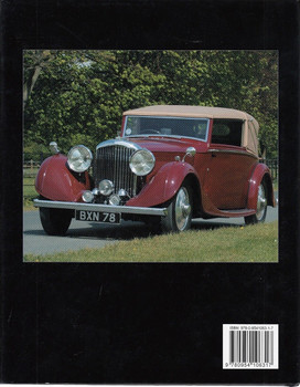 Bentley 3 1/2 & 4 1/4 Litre 1933 - 1940 In Detail Back Cover