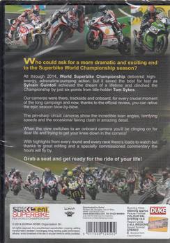 Superbike World Championship 2014: The Official FIM Review (2 Disc) DVD Back Cover