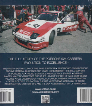 The Porsche 924 Carrera: Evolution to Excellence Back Cover
