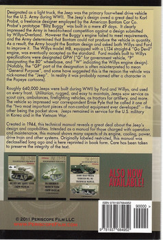 Willys-Overland MB and Ford Model GPW Jeep Technical Manual Back Cover
