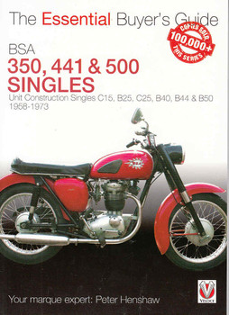This book is essential for all enthusiasts and prospective owners and potential buyers of Unit Construction BSA Singles built between 1958 - 1973