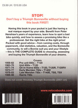 Triumph Bonneville: The Essential Buyer's Guide Back Cover