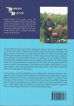 The Rupert Ratio Unit Single Manual Back Cover