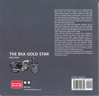The BSA Gold Star back
