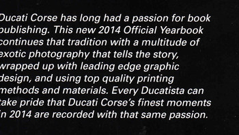 Ducati MotoGP & Superbike 2014 Official Yearbook - inside cover