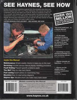 Audi A4 Jan 2005 to Feb 2008 Petrol & Diesel Owners Workshop Manual - back
