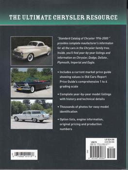 Standard Catalog Of Chrysler 1914 - 2000  - back