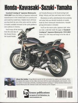 Standard Catalog Of Japanese Motorcycles 1959 - 2007 - back